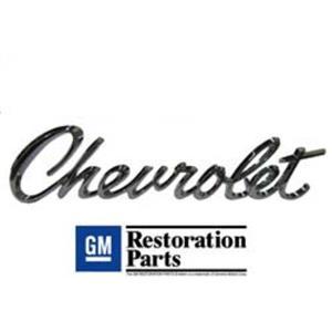 "67 Camaro 69 Chevelle Wagon - ""Chevrolet"" - Header or Trunk Lid Panel Emblem"