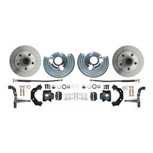 "Mopar B E Body Standard Disc Brake Kit Black Caliper 11"" Plain Rotor"