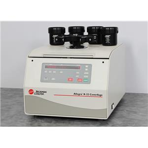 Used: Beckman Coulter Allegra X-22 Benchtop Centrifuge 392184 w/ SX4250 Bucket Rotor