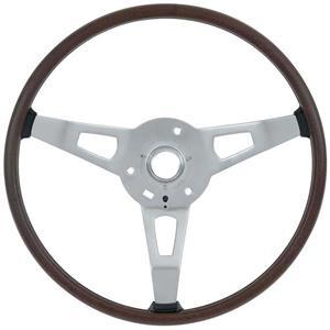 OER 1970-71 Mopar Rim Blow Steering Wheel - Woodgrain - with S83 Option 4020FTX