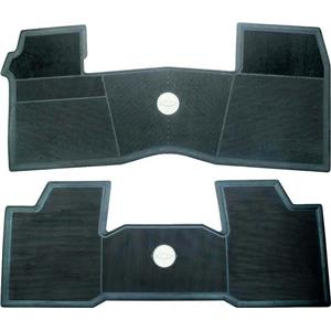 OER 1961-64 Chevrolet w/o Console Black 2 Piece Front And Rear Rubber Floor Mat Set M61001