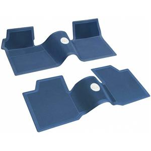 OER 61-64 Chevy w/o Console Dark Blue 2 Piece Front And Rear Rubber Floor Mat Set M61012