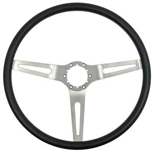 OER 1969-72 GM Comfort Grip Steering Wheel with Silver Spokes - Black 3952700