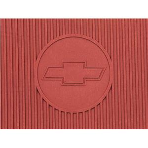 OER 1967-69 Camaro, 68-74 Nova 4 Piece Red Rubber Bow Tie Floor Mat Set B73002
