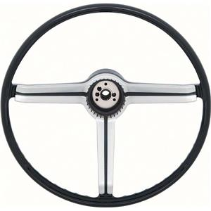 OER 1968 Steering Wheel with Spokes and Brushed Chrome Spider Insert 9747536
