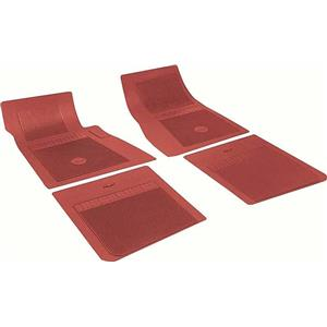 OER Chevrolet 4 Piece Red Floor Mat Set With Bow Tie FP73002