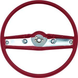 OER 1969-70 Steering Wheel - Red - Standard Interior 3939733
