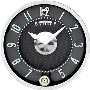 OER 1955-56 Fullsize 1958-62 Corvette In-Dash Clock With Quartz Movement Black Face 3710648