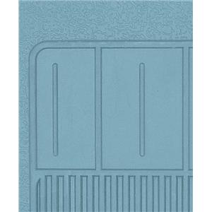 OER 1967-69 Camaro, 68-74 Nova 4 Piece Light Blue Rubber Bow Tie Floor Mat Set B73003