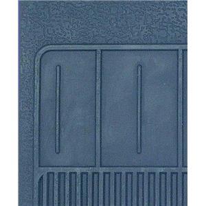 OER 1967-69 Camaro, 68-74 Nova 4 Piece Dark Blue Rubber Bow Tie Floor Mat Set B73012