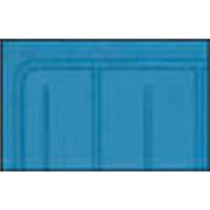 OER 61-64 Chevy w/o Console Medium Blue 2 Piece Front And Rear Rubber Floor Mat Set M61008