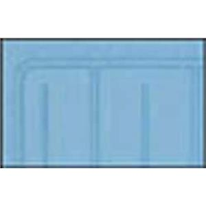 OER 61-64 Chevy w/o Console Light Blue 2 Piece Front And Rear Rubber Floor Mat Set M61003
