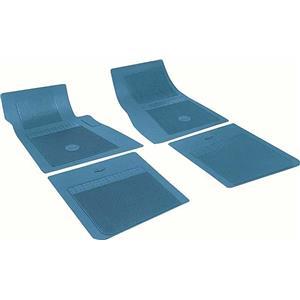 OER Chevrolet 4 Piece Medium Blue Floor Mat Set with Bow Tie FP73008