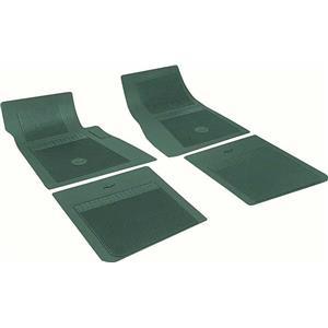 OER Chevrolet 4 Piece Dark Green Floor Mat Set with Bow Tie FP73013