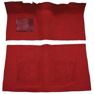 OER 60-64 Galaxie/Fairlane 2-Dr w/ Flat Front & Column Shift - Loop Carpet Kit - Red F9190002