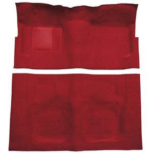 OER 60-64 Galaxie/Fairlane 2-Dr w/ Footwells & Column Shift - Loop Carpet Kit - Red F9190502