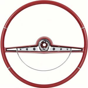 OER 1963 Impala Steering Wheel with Horn Ring ; Standard, SS ; Red 5730129