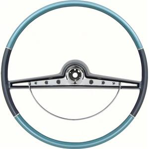 OER 1963 Impala Steering Wheel with Horn Ring ; Standard and SS ; Two Tone Blue 5730130