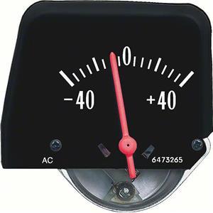 OER 1968-76 Black Console Amp Gauge 6473840