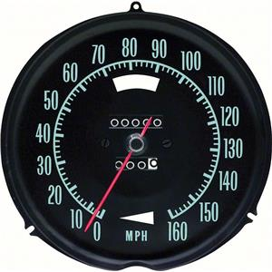 OER 1969-71 Corvette Speedometer ; 160 MPH ; without Speed Warning 6492696