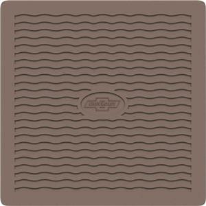 OER 1955-56 Chevrolet Brown Factory Accessory Floor Mats with Chevrolet Bow Tie Logo M55071