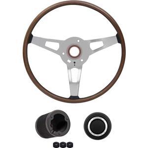 OER 1970 Challenger Wood Grain Rim Blow Steering Wheel Kit *ME1862