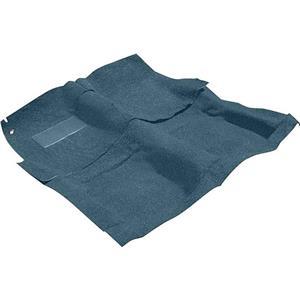 OER 68 Impala 2 Door W/ 4 Speed Bright Blue Molded Loop Carpet Set W/ Mass Backing B26252B04
