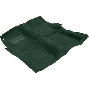 OER 65-70 Impala 2 Door W/ 4 Speed Dark Green Molded Loop Carpet Set W/ Mass Backing B26252B13