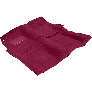 OER 65-70 Impala 2 Door W/ 4 Speed Medium Red Molded Loop Carpet Set W/ Mass Backing B26252B49
