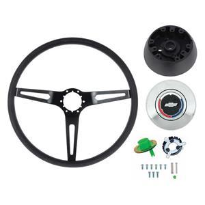 OER 69-72 Comfort Grip Steering Wheel Kit - w/o Tilt Wheel - Black Spokes Black Grip *K619B