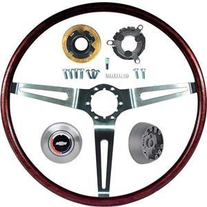 OER 69 Camaro, Impala / Full Size, Nova with Tilt Wheel Rosewood Steering Wheel Kit *R6534