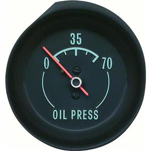 OER 1968-71 Corvette Oil press Gauge - With Green Markings 6462928A