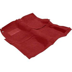 OER 1986-87 Chevrolet Full Size 2 Door Dark Red Molded Cut Pile Carpet Set B1817P29