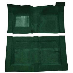 OER 66-71 Fairlane/Torino 2-Dr w/ Floor Shift - Molded Loop Carpet Kit - Dark Green F9194313