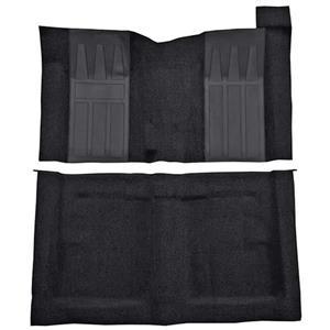 OER 69-71 Torino GT 2-Dr Hard Top w/ 4-Speed Loop Carpet Kit w/ Black Inserts Black F9194501