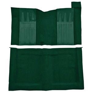 OER 69-71 Torino GT 2-Dr HTw/ 4-Speed Loop Carpet Kit w/ Black Inserts Dark Green F9194513