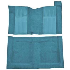 OER 69-71 Torino GT 2-Dr HTw/ 4-Speed Loop Carpet Kit w/ Black Inserts Medium Blue F9194541