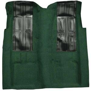 OER 72-73 Ranchero GT Automatic - Loop Carpet Kit w/ 2 Black Inserts - Dark Green F9196513