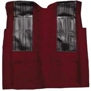 OER 1972-73 Ford Ranchero GT Automatic - Loop Carpet Kit w/ 2 Black Inserts - Maroon F9196515