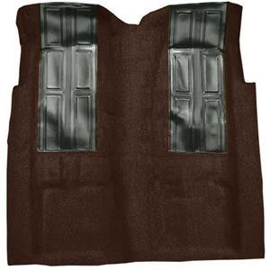 OER 72-73 Ranchero GT Automatic - Loop Carpet Kit w/ 2 Black Inserts - Dark Brown F9196530