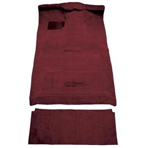 OER 87-96 Ford F-Series Crew Cab w/ High Tunnel - Molded Cutpile Carpet Kit - Maroon F9206015