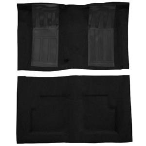 OER 69 Torino GT Convertible 4-Speed - Loop Carpet Kit w/ 2 Black Inserts - Black F9214301