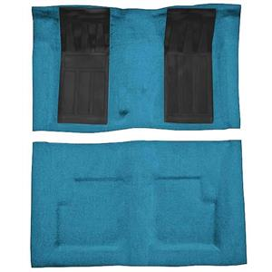 OER 74 Torino GT Convertible 4-Speed Loop Carpet Kit w/ 2 Black Inserts Medium Blue F9214341