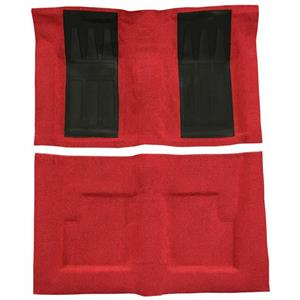 OER 69-71 Torino GT Convertible Automatic - Loop Carpet Kit w/ 2 Black Inserts - Red F9214402