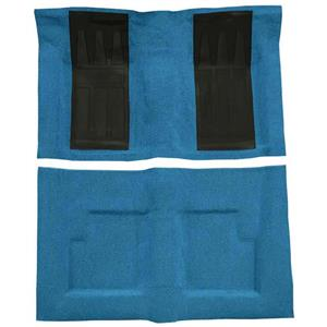 OER 69-71 Torino GT Convt Automatic Loop Carpet Kit w/ 2 Black Inserts Bright Blue F9214404