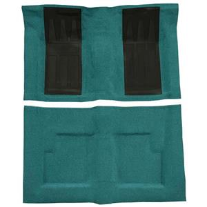 OER 69-71 Torino GT Convt Automatic - Loop Carpet Kit w/ 2 Black Inserts - Aqua F9214406