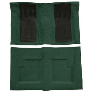 OER 69-71 Torino GT Convt Automatic Loop Carpet Kit w/ 2 Black Inserts Dark Green F9214413
