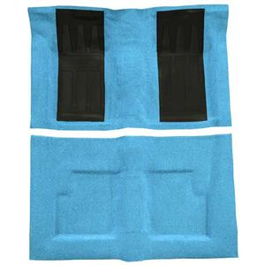 OER 69-71 Torino GT Convt Automatic Loop Carpet Kit w/ 2 Black Inserts Medium Blue F9214441