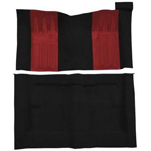 OER 69-71 Torino GT 2-Dr HT Automatic Loop Carpet Kit w/ 2 Red Inserts Black F9214701