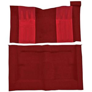 OER 69-71 Torino GT 2-Dr Hardtop Automatic - Loop Carpet Kit w/ 2 Red Inserts - Red F9214702